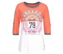 T-Shirt orange / weiß