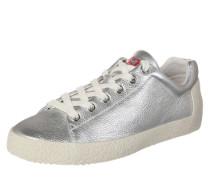 Sneaker 'Nicky' aus Leder rot / silber / weiß