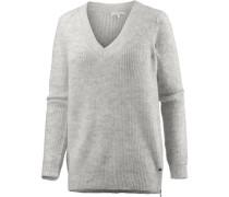 V-Pullover Damen grau