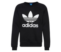 Sweatshirt 'Trefoil Crew ' schwarz / weiß