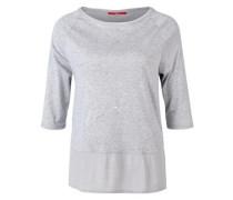 Blusen-Shirt mit Sternchen grau