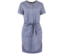 Blusenkleid Dress Safari blau