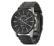 Armbanduhr mit Totalisatoren 'Sentry Chrono' (Gehäuse 40 mm) schwarz / silber