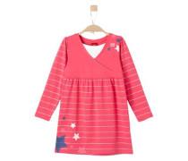 Jerseykleid mit Glitzerstreifen pink