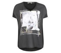 Shirt mit Print schwarz