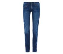 Shape Slim: Jeans mit Knopfleiste blue denim