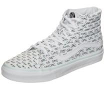 'Sk8-Hi Slim Sayings' Sneaker weiß