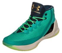 Curry 3 Basketballschuh Herren neongrün