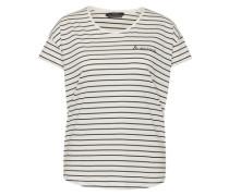 T-Shirt im Streifen-Design weiß