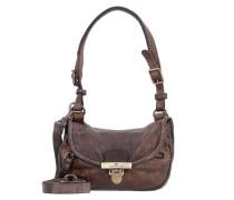 Clivia Mini Bag Schultertasche Leder 19 cm mokka