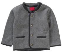 Baby Trachtenjacke Janker aus Fleece für Jungen grau