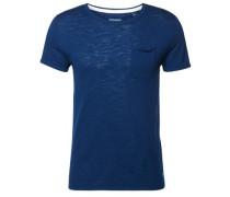 Feinstrick T-Shirt dunkelblau