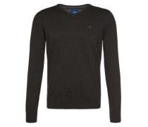 Pullover 'basic v-neck' dunkelgrau