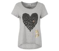 T-Shirt Hasenherz grau