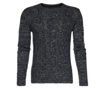 Grobstrick-Pullover schwarz