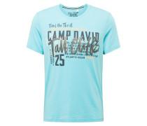 Shirt schwarz / hellblau