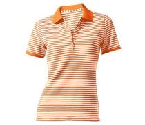 Pikee-Poloshirt orange / weiß