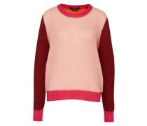 Strickpullover mit Mohairanteil pink / rot