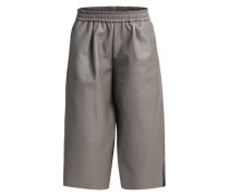 Culotte in Leder-Optik grau