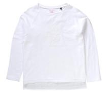 'Langarmshirt' für Mädchen weiß