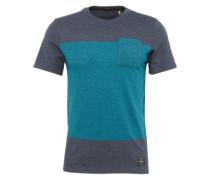 T-Shirt 'LM Modern' türkis / taubenblau