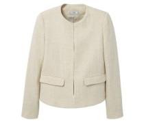 Pocket linen-blend jacket beige
