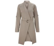 Mantel aus fließendem Material beige