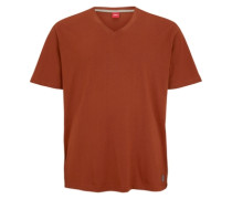 T-Shirt mit V-Neck orange