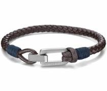 Armband 'Casual Core 2701011' dunkelbraun / silber
