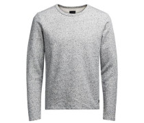 Pullover Washed-Crew-Neck graumeliert