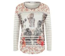 Langarmshirt mit Allover-Print grau / mischfarben