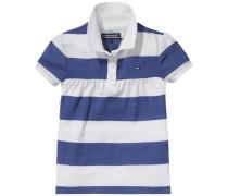 Polos 'blossom Stripe Mini Polo' royalblau / weiß