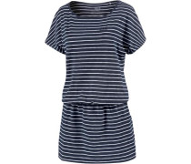 Jerseykleid 'travel Striped Dress' marine / weiß