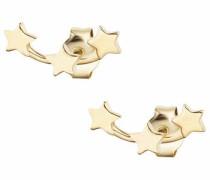 Paar Ohrstecker 'Sterne' gold