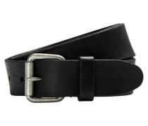Schwarzer Gürtel mit Rollschnalle schwarz