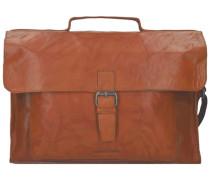 Aktentasche Leder 41 cm Laptopfach 'Bronco' braun
