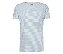 T-shirt 'Stripe tee' weiß / hellblau