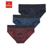 Slip 95/5 (3 Stück) blau / rot