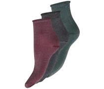Glitzer-Sockn-Set grün / rot / schwarz