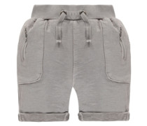 Shorts in Washed-Out-Optik Jungen Kinder grau