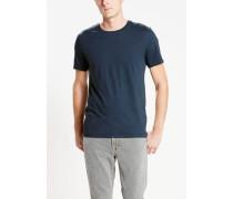 T-Shirt (Packung 2er-Pack) navy / weiß