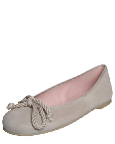 Lederballerina mit Schleife 'Angelis' beige
