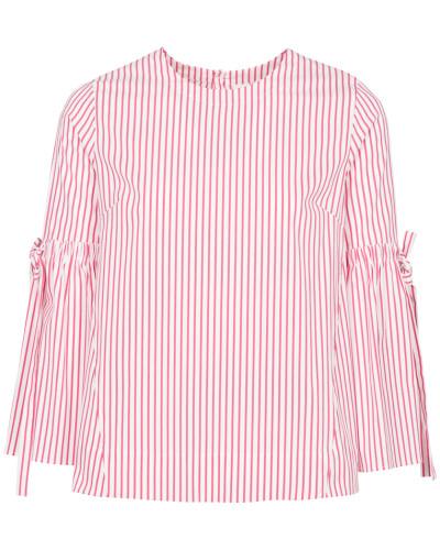 Langarm Bluse 1863 rot / weiß