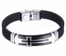 Armband »Kreuz« schwarz / silber