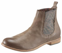 Chelsea Boots dunkelbeige / hellbraun