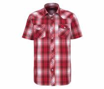 Kurzarmhemd rot / weiß