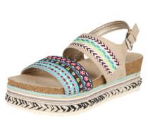 Plateau-Sandale beige / mischfarben