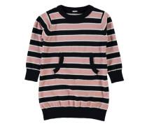 Strickkleid rosa / schwarz / weiß