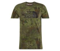 T-Shirt mit Logo dunkelgrün