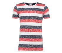 T-Shirt dunkelblau / rot / weiß